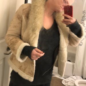 Jackets & Coats - Faux Suede and Shearling Coat EUC